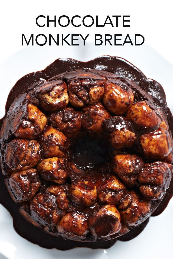 In this delicious recipe for Chocolate Cinnamon Monkey Bread each bun dipped in butter, rolled in a chocolate chip mixture and baked in a brown sugar glaze. #BiteMeMore