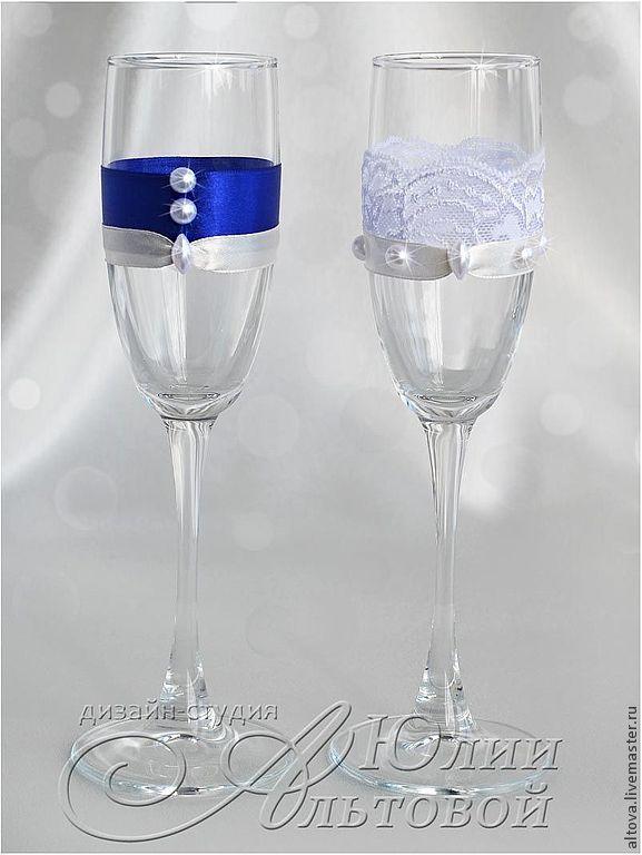 "Купить Бокалы свадебные ""Гусарская баллада"" - свадебные бокалы, купить свадебные…"