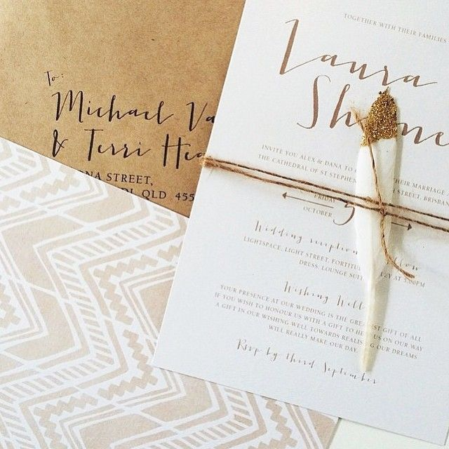 """""""We have been receiving lots of love about these Boho Luxe invitations lately. Although this is still one of our favourites, all our invitation suites are…"""""""