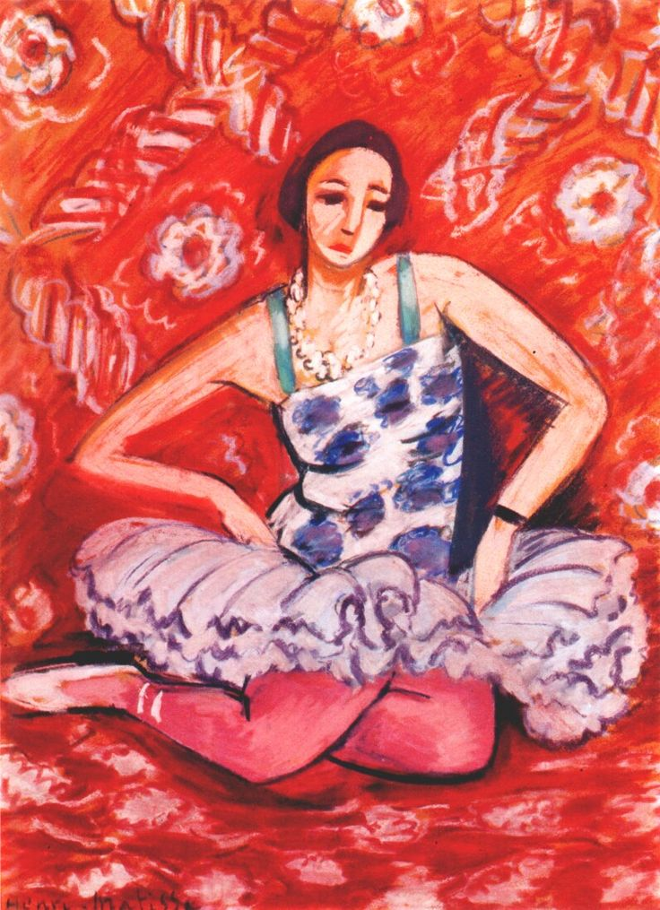 Dancer by Henri Matisse, 1925-1926. The color in this is perfect