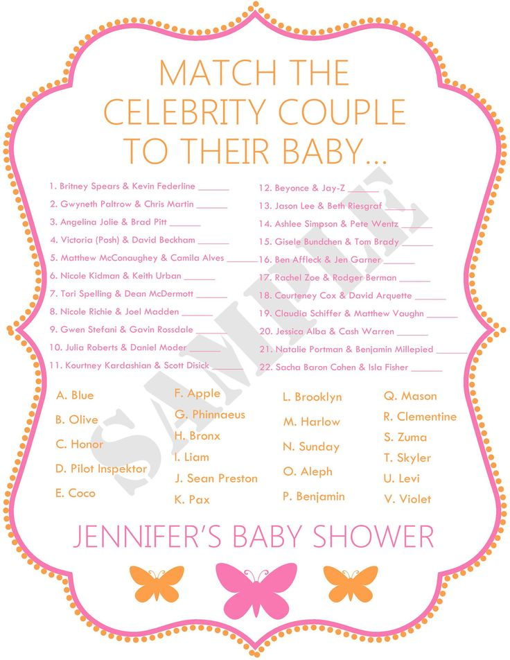 Celebrity Baby Shower Game???