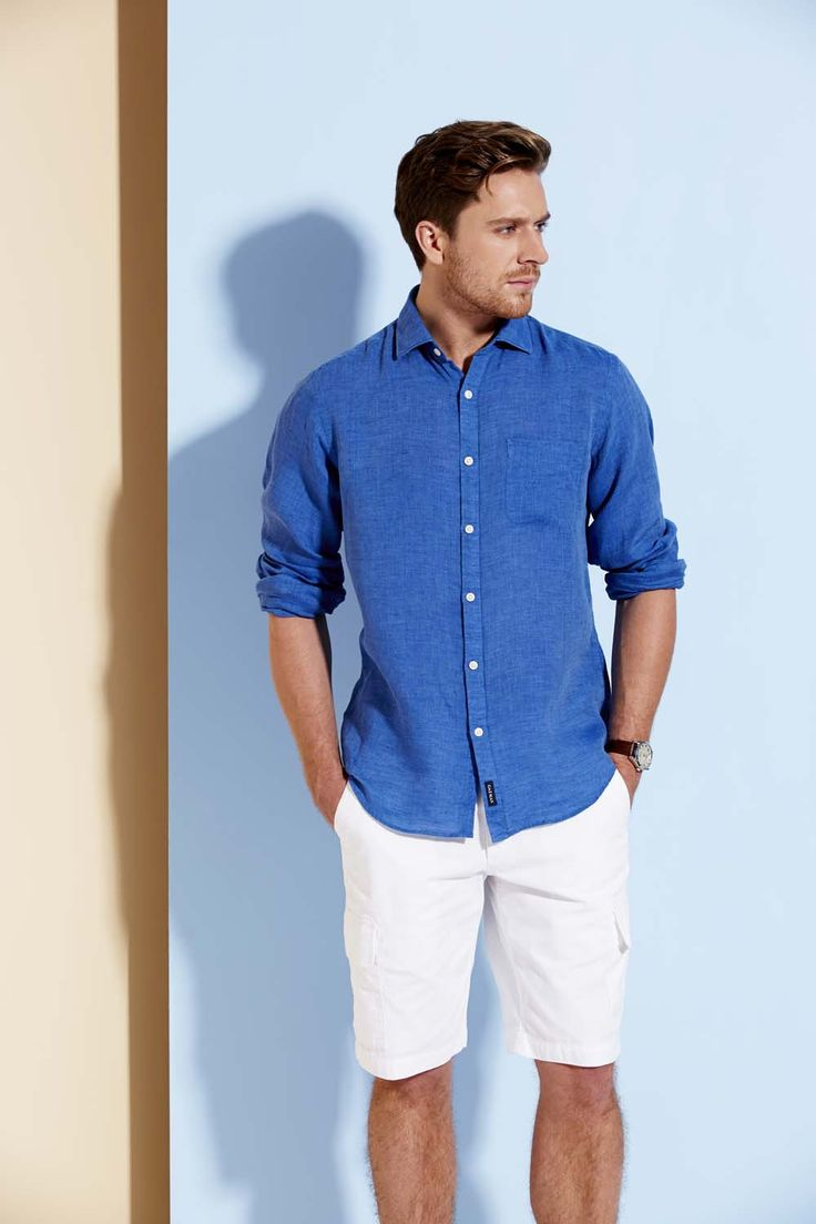 Linen in summer is a GAZMAN favourite. This classic shirt is a great summer staple and paired with your favourite chino or short, this shirt will take you from relaxed day to a night out with ease. Bring on Summer.