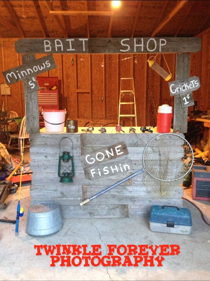 The Bait Shop I Made For A Mini Session So cute for a summer mini session