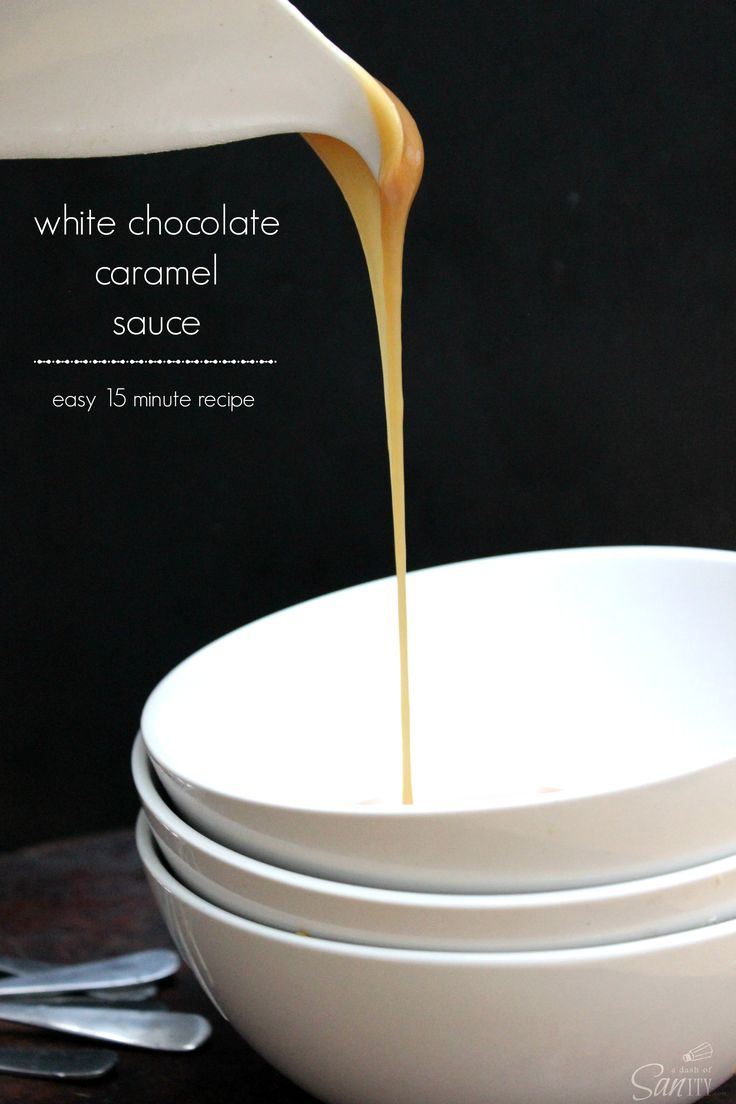 White Chocolate Caramel Sauce - easy 15 minute recipe