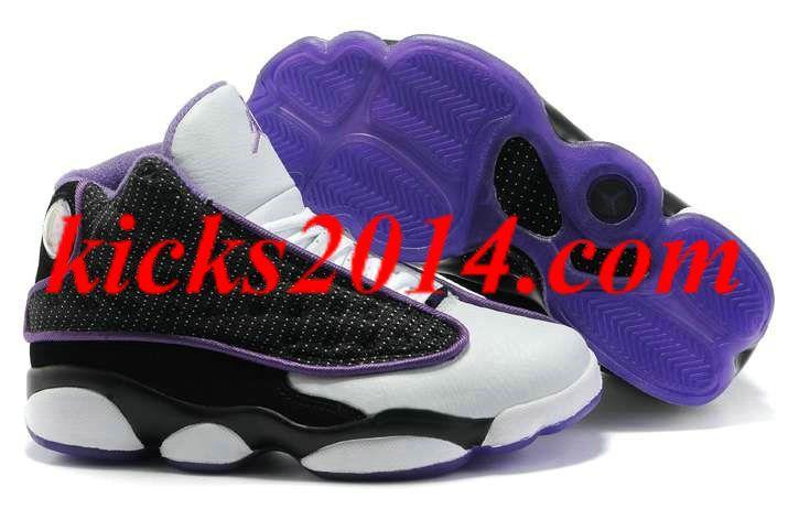 Womens Air Jordan 13 (XIII) Black White Purple [Womens Shoes 2014 1364] -  :  Jordan, on the real cheap! womens jordans