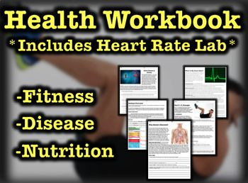 This 15 page workbook introduces the key health concepts of Heart Health, Disease and Nutrition.  Each handout comes with a reading and reflection questions. The workbook also includes a 4 page Heart Rate Lab designed to get students moving while recording and reflecting on their own exercise and rest data.