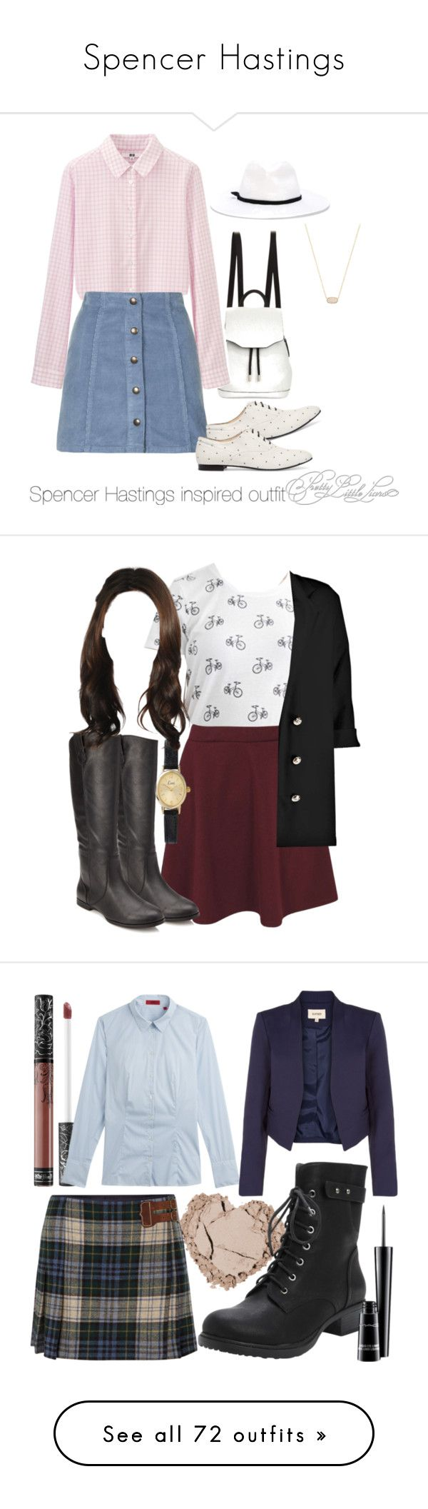 """""""Spencer Hastings"""" by xxoxxo-76 ❤ liked on Polyvore featuring rag & bone, Uniqlo, Topshop, Tod's, Forte Forte, Kendra Scott, bags, handbags, bolsas and accessories"""