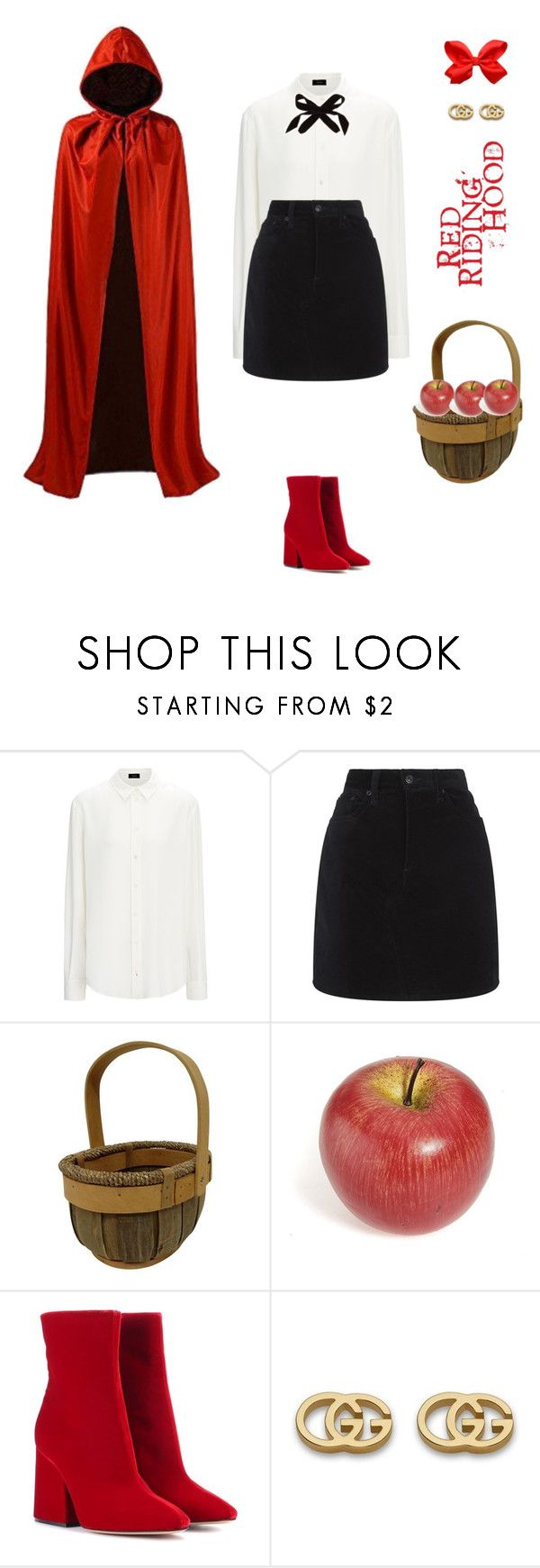 """""""Red riding hood costume!"""" by sebolita ❤ liked on Polyvore featuring Joseph, rag & bone, Masquerade, Maison Margiela, Gucci and Lulu Frost"""