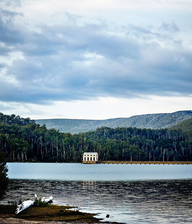 Australian Gourmet Traveller travel feature on Pumphouse Point, Tasmania.