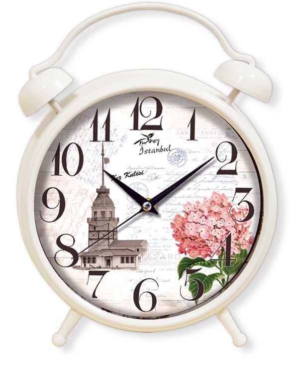 Dekoratif Kızkulesi Masa Saatleri Modeli  Ürün Bilgisi ;  Materyal        : Plastik Gövde & Bombeli Gerçek Cam Ebat            : 35 cm. Mekanizma    : Akar Saniye                 Dekoratif şık masa saati Sessiz çalışır Ortama ayrı bir hava verir Ürün fotoğraf görüldüğü gibidir Sevdiklerinize bu şık ve dekoratif masa saatini hediye edebilirsiniz