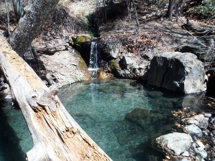 Jordon hot springs, Gila National Forest. 2 pools catch ...