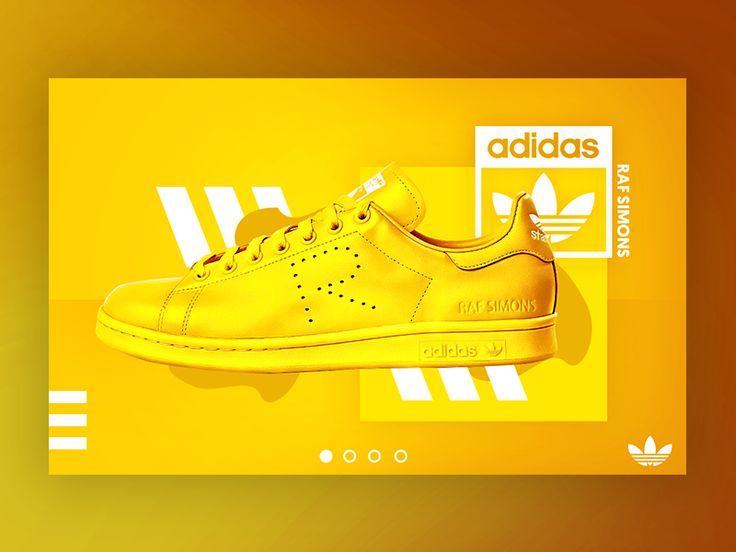 Adidas Banner UI - Yellow