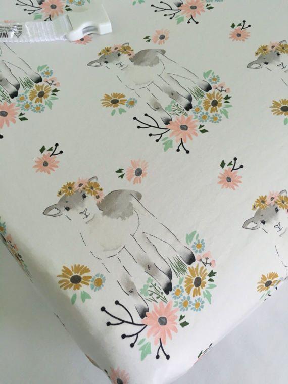 Crib Sheet  Toddler Bed Sheet  Nursery Bedding by SweetBabyBurpies
