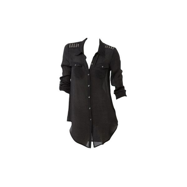 Myer Gifts Online - T BY BETTINA LIANO Military Shirt in Black ❤ liked on Polyvore featuring tops, blouses, shirts, blusas, military style shirts, military blouse, military shirts, shirt blouse and shirt top