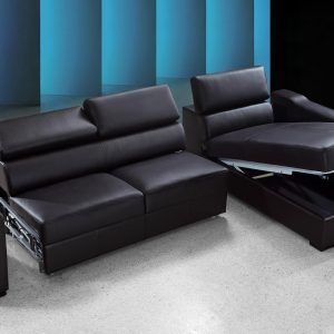 Leather Sectional Sofa Bed With Storage #LeatherSectionalSofas