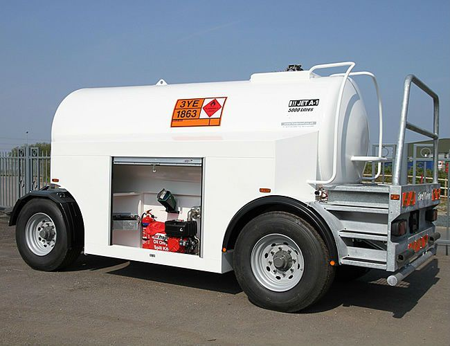 Airfield tow Aviation fuel trailer