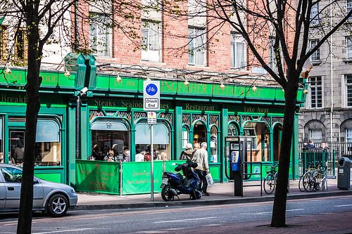 SHOP AND BUSINESS SIGNS: KINGFISHER RESTAURANT [The Streets Of Ireland]