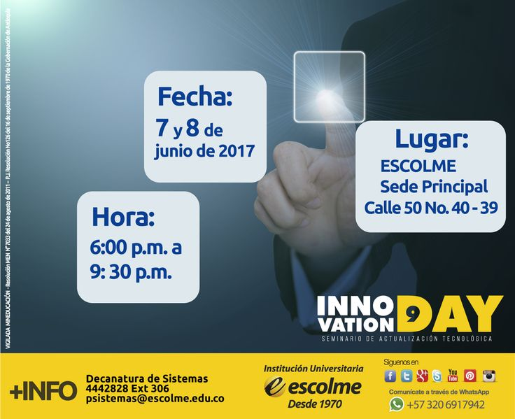 @Escolmeeduco ¡La Decanatura de Administración de Sistemas Informáticos te invita a participar de este seminario! :https://goo.gl/E6OdpZ
