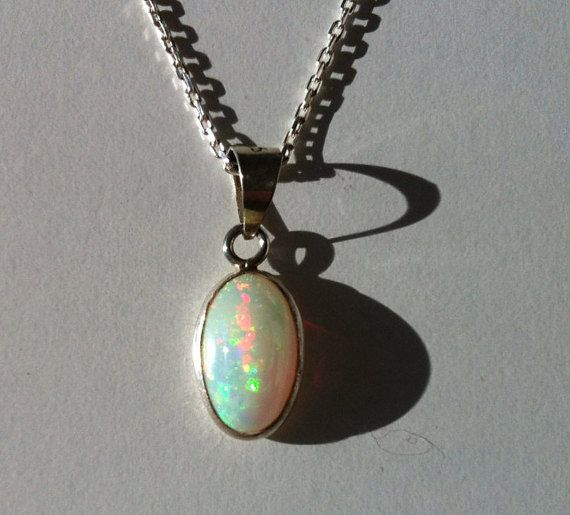 Australian Opal Necklace Fire Opal Necklace My by TherapyStonesOne