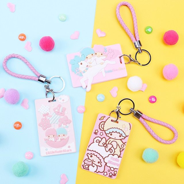 Little Twin Stars My Melody 3d Soft Silica Gel Id Name Credit Card