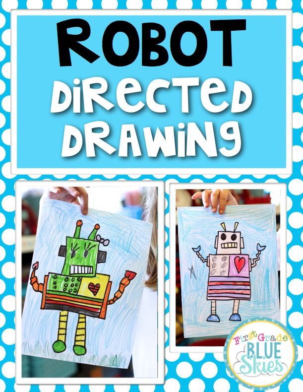 Just in case you are experiencing withdrawals from directed drawings since I am busy at work on my Directed Drawings for the Entire Year....I have a directed drawing for you to get you through!ROBOT D