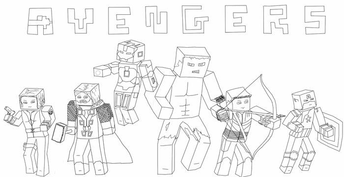 Minecraft Coloring Pages Avengers Pokemon Coloring Pages Cartoon Coloring Pages Minecraft Coloring Pages
