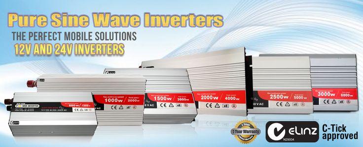 Pure Sine wave Inverters Check it here - http://www.elinz.com.au/shop/inverters/227
