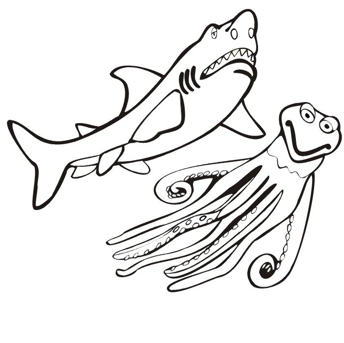 Blue Shark Coloring Page