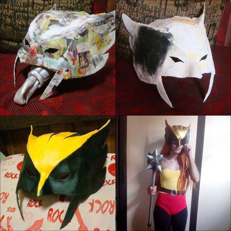 Olá galerinha , aqui é a Laurinha ! Vim mostrar para vocês como fiz o elmo/máscara  do meu cosplay da Mulher Gavião.  Meu cosplay foi d...