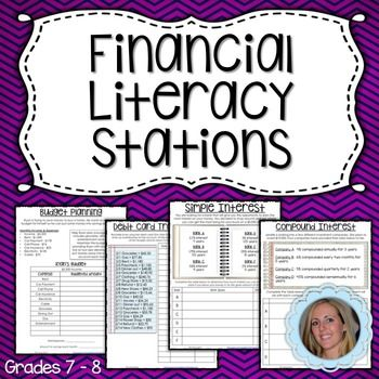 This set of stations provides students with practice making a budget, using a debit card and working with simple and compound interest. Each station includes a student worksheet as well as a follow up page and hint card. For more real world math activities, check out my Real World Math Checkbook Activity!Lindsay Perro.