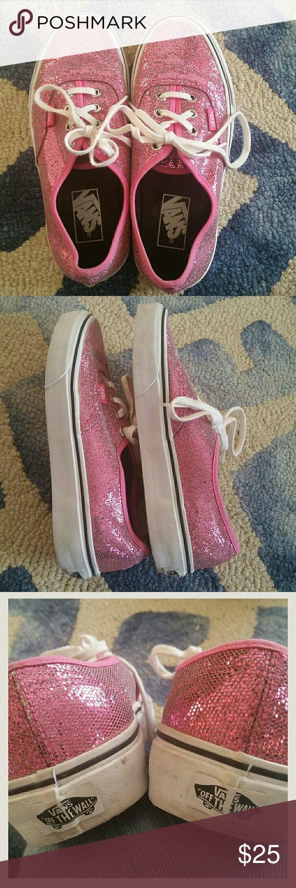 Pink Glitter Vans ADORABLE! Great condition Vans Shoes Sneakers