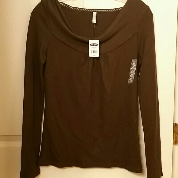 2 old navy shirts Long sleeve brown shirt (62% polyester, 33% rayon, 5% spandex & 3/4 sleeved cotton coral shirt Old Navy Tops Tees - Long Sleeve