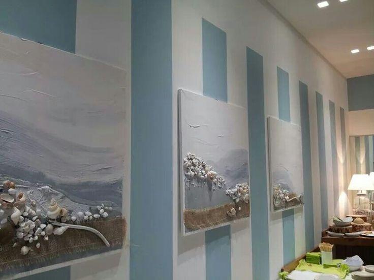 Sapore di mare 3 tele 80x80 installati da Bellavista cafe' -Bergamo- Www.vitaacoLory.blogspot.com