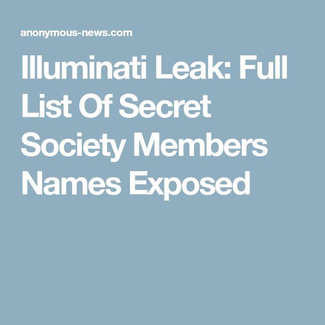 Illuminati Leak: Full List Of Secret Society Members Names Exposed