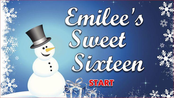 Sweet 16 Winter Wonderland theme