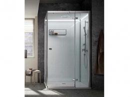 TEUCO RELOADED BAGNO TURCO box doccia ad angolo con porta a BATTENTE