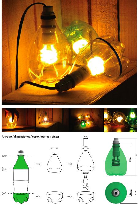 DIY Plastic Bottle Lamp