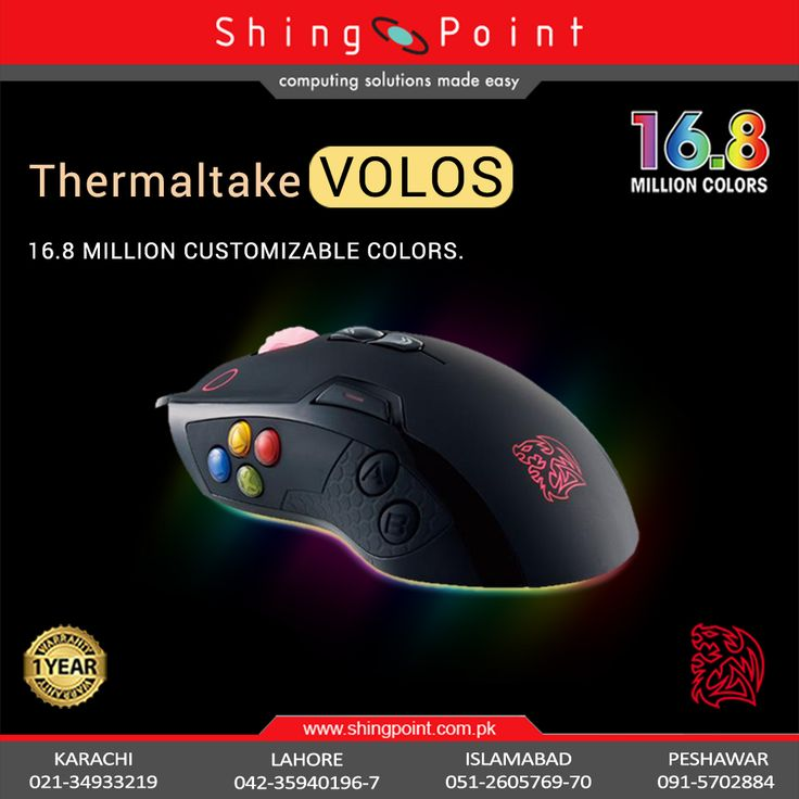 The VOLOS laser gaming mouse is specially designed for MOBA/MMORPG games, to give players the perfect control in their hand for instant access to their abilities and spells.