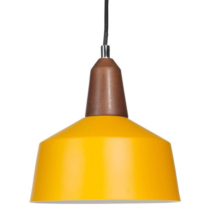 Lámpara de techo de metal amarillo D 20 cm NORMA