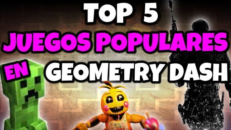 ¡TOP 5 JUEGOS POPULARES EN GEOMETRY DASH! | MiKhaXx