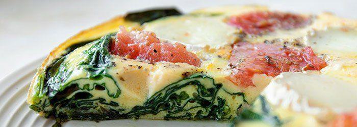 Frittata ze szpinakiem, pomidorami i serem | Blog | Kwestia Smaku