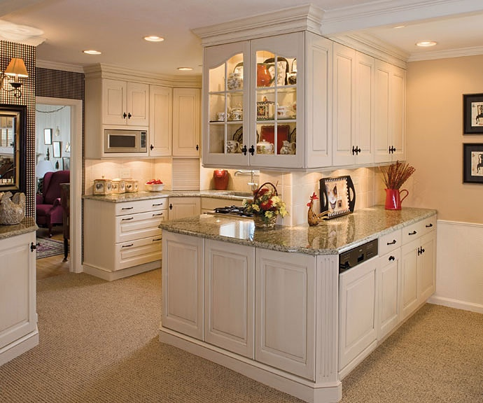 Take Out Wall Between Formal Dining Room And Our Living: White Kitchen Cabinets