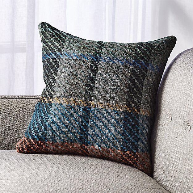 Provence Plaid Pillow 18 Plaid Pillow Pillows Plush Throw Pillows