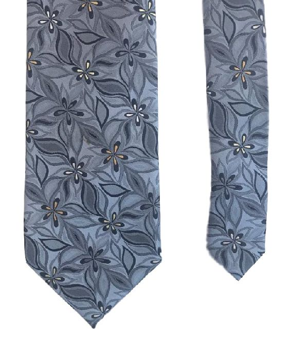 Orvieto Italian Design Blue Floral Flowers Classy Fancy 100% Silk Men's Neck Tie #Orvieto #Tie #menswear #mensfashion