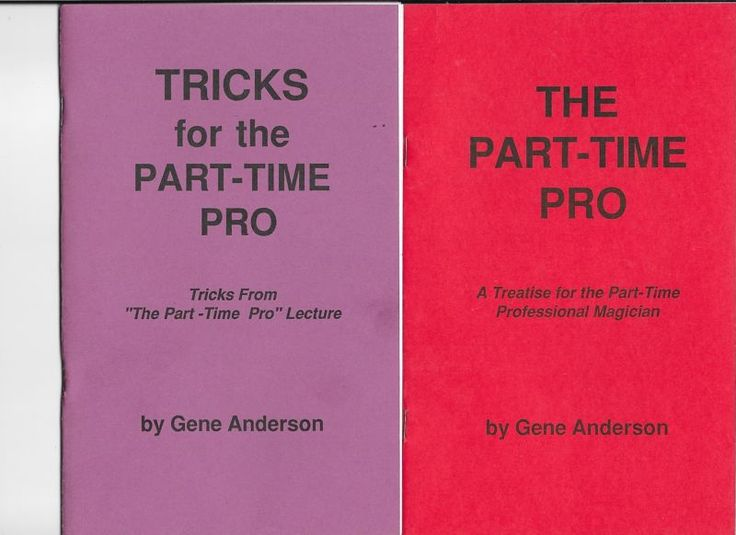 Gene Anderson Lecture Presents Tricks for the Part-Time Pro 2 sets of Note Please check out all our rare value priced Magic tricks & Books at: http://stores.ebay.com/webrummages
