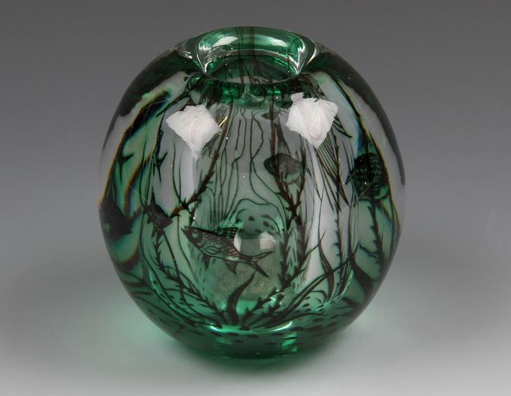 Orrefors Graal vase designed by Edward Hald #orrefors #biddle
