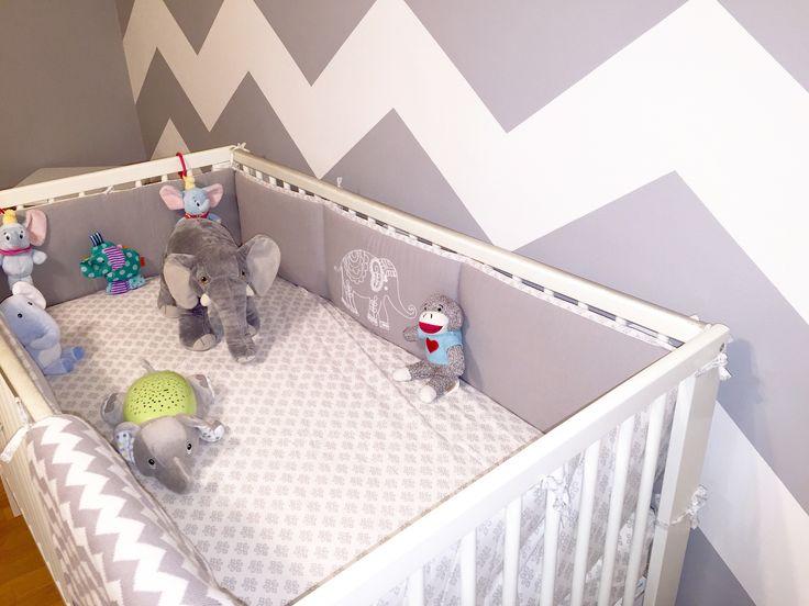 ideas para cuartos de beb chevron nursery