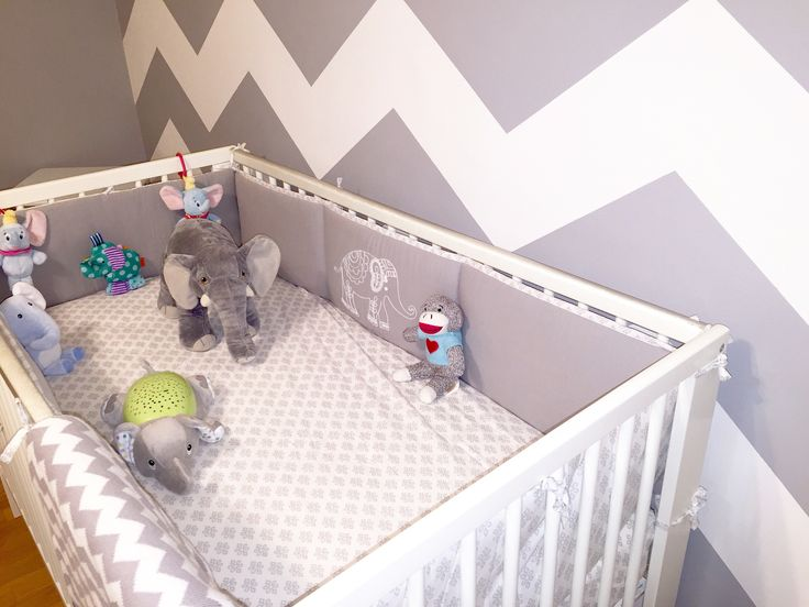 Ideas para cuartos de bebé #Chevron # nursery Decoraciones para