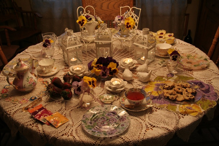 Victorian tea party table decorations photograph victorian for Victorian tea party supplies