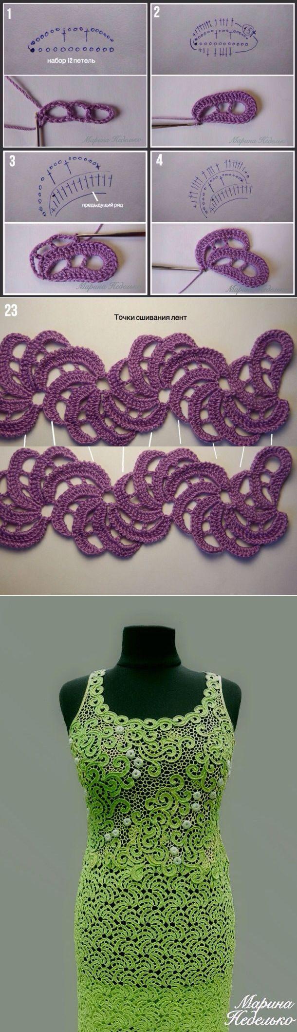 Вяжем ленточное кружево «Мандаринки» - Ярмарка Мастеров - ручная работа, handmade